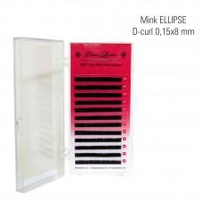 Naarits ELLIPSE 0,15 x 8 mm, D-Curl