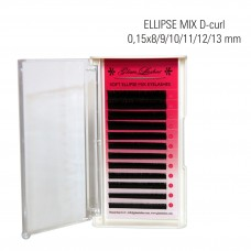 Naarits ELLIPSE ripsmed MIX D-Curl 0,15 x 8/9/10/11/12/13/14 mm