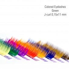 Värvilised-roheline 0,15x11 mm, J-Curl