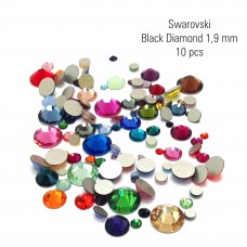 Swarovski  kristallid Black Diamond 1,9 mm